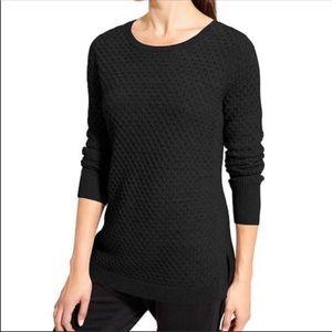 Athleta Black Honeycomb Tunic Sweater Sz M